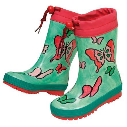 maximo Girl s botas de goma mariposa capri