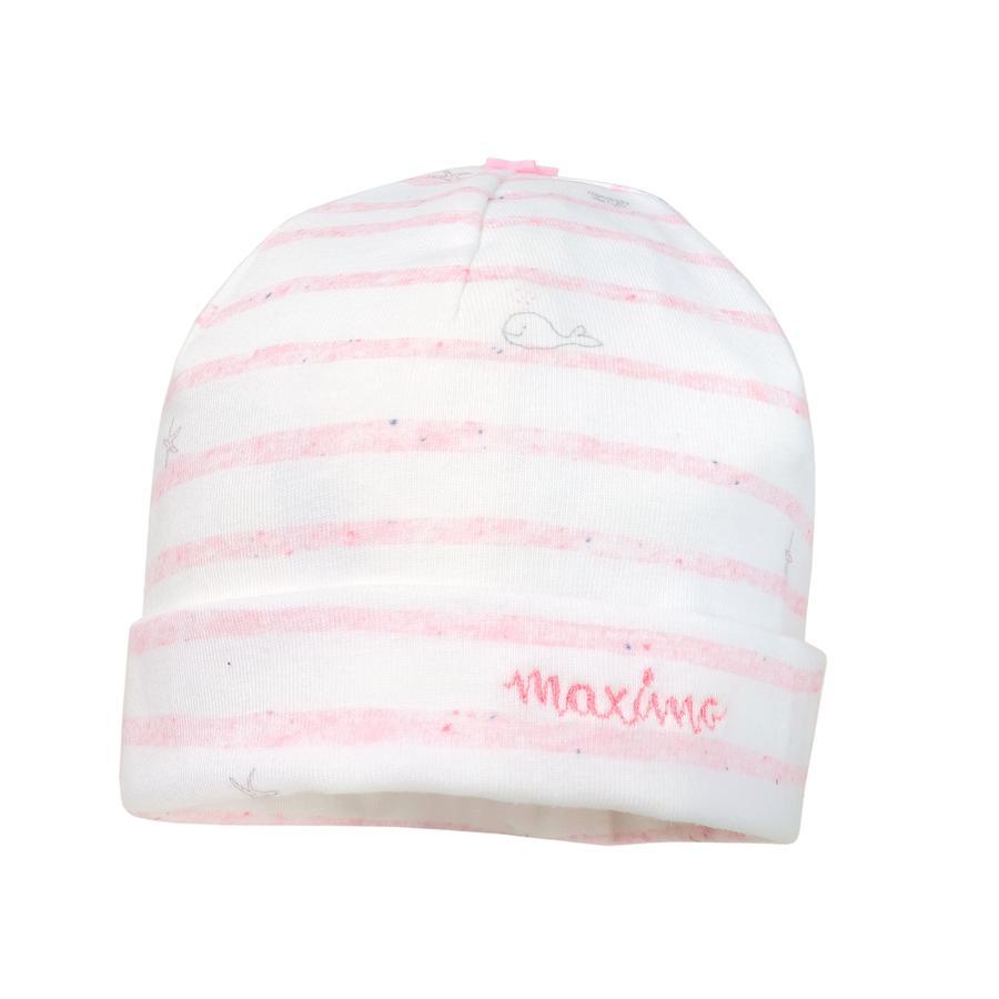 maximo Girl s Beanie Seafood rosa pálido mélange/blanco