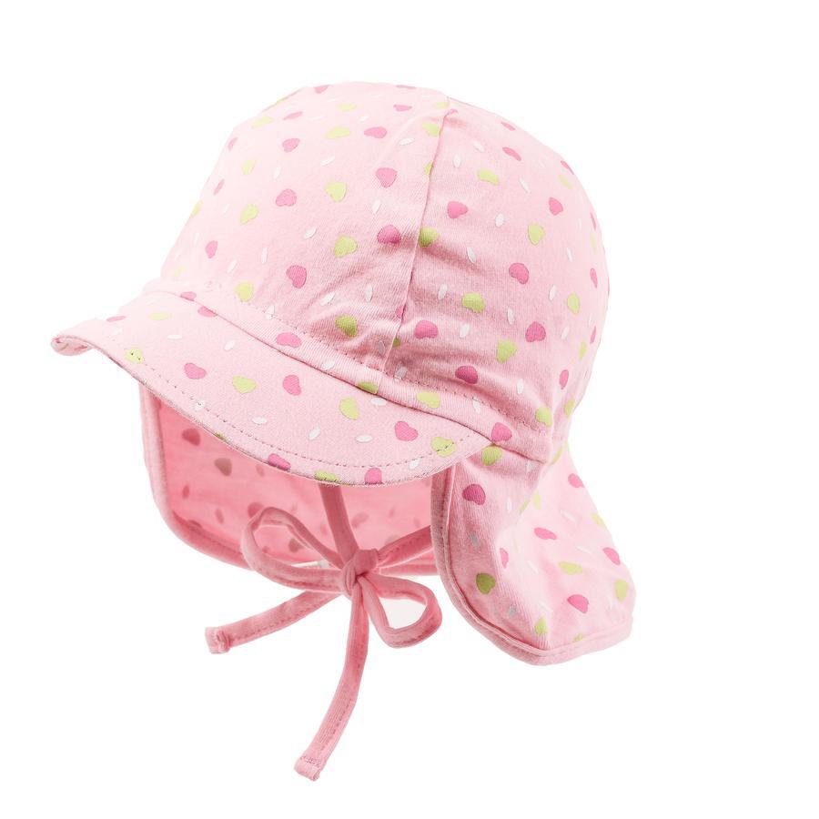 maximo Girl s Casquillo de la visera corazones rosa pálido/rosa