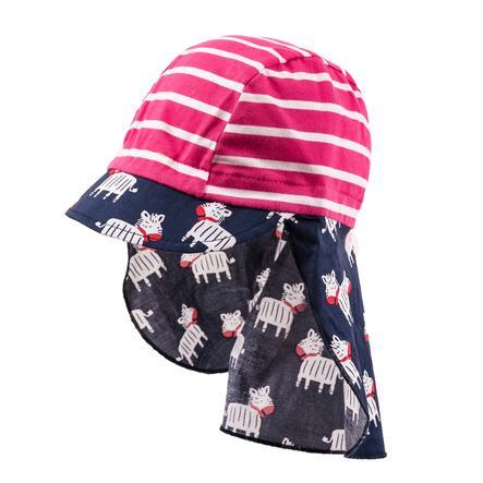 maximo Bonnet bouclier rose marine foncé