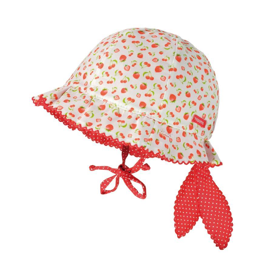 maximo tyttöjen S lasten hatun hedelmät punainen-valkoinen