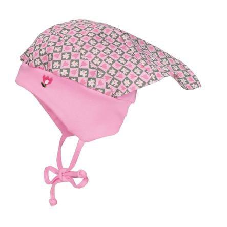 maximo Girl s foulard à capuchon fleurs rose-melange-blanc-blanc