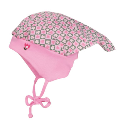 maximo Girls Kopftuchmütze Blumen pinkmelange-weiss