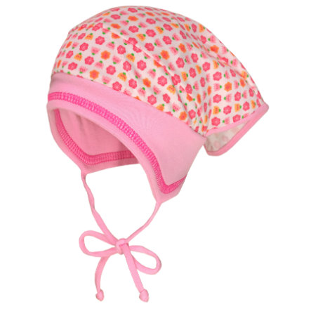 maximo Girls Kopftuchmütze Blumen weiss-pink