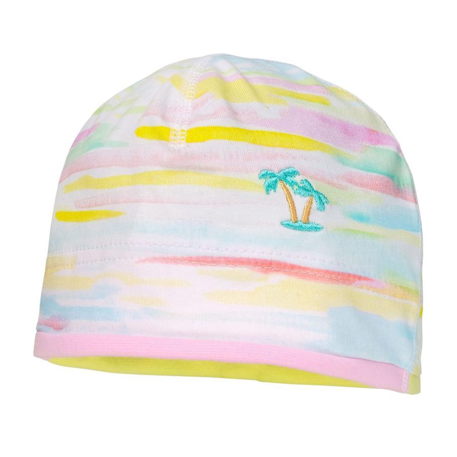maximo Girl s cap borduursel wit-licht-licht-geel-donkerblauw geborduurd