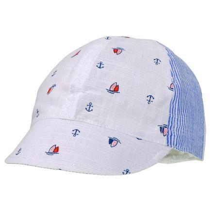 maximo Boys Cap arktikweiss-navy