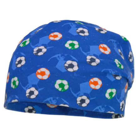 maximo Boys Beanie voetbal planeet-wit