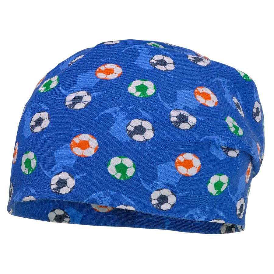 maximo Boys Beanie Fussball planet-weiss