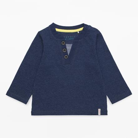 ESPRIT Boys Camisa manga larga azul marino