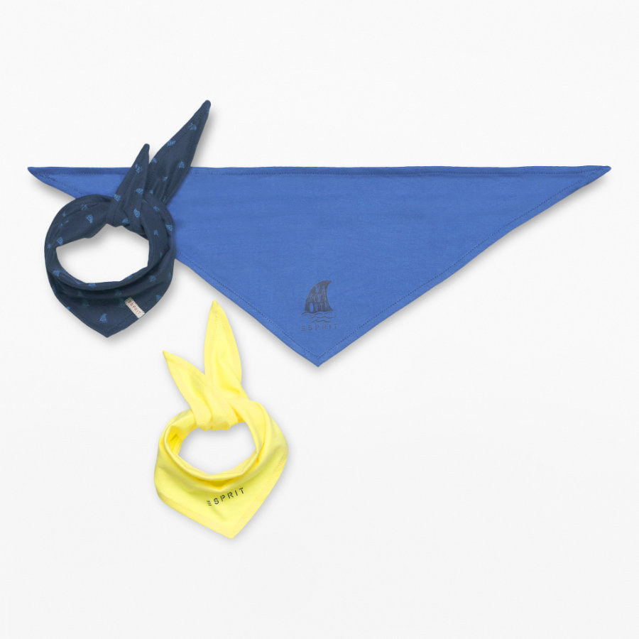 ESPRIT Boys Bufanda triangular 3er Pack azul marino