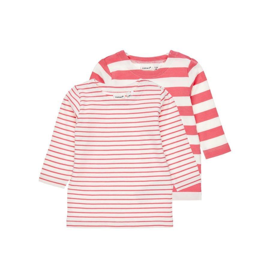 name it Girl Sweatshirt 2er Pakiet Nbmdango śnieżnobiały
