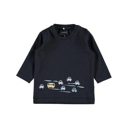 name it Boys Shirt met lange mouwen Nbmermxim donker saffier