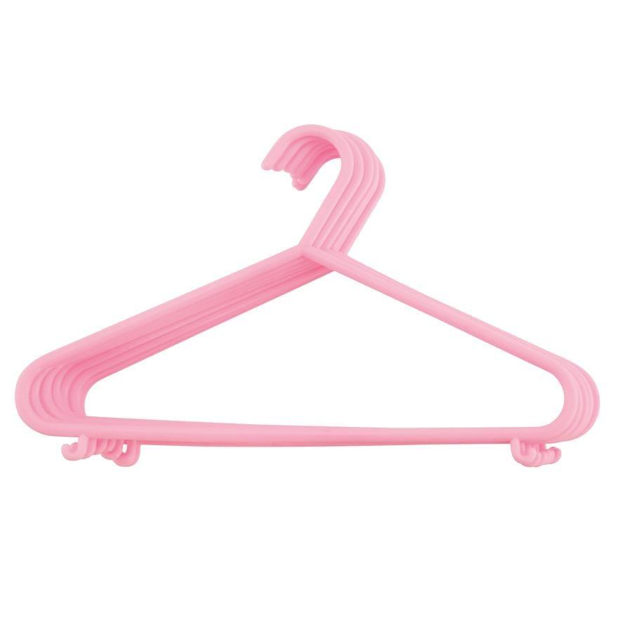 bieco Kleiderbügel aus Kunststoff 8 Stück rosa