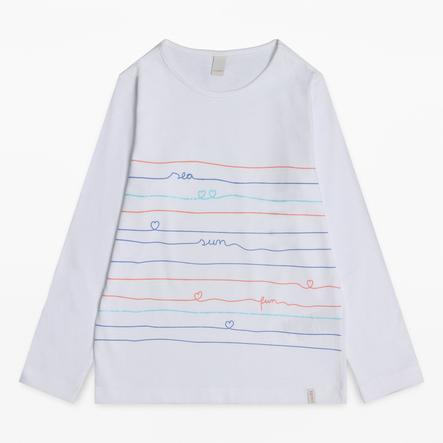 ESPRIT Girl s shirt met lange mouwen wit