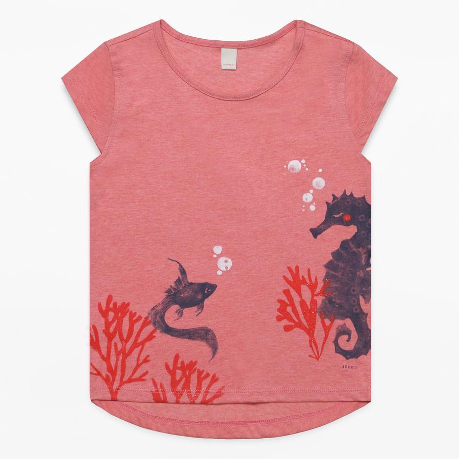 ESPRIT Girls T-Shirt heather coral