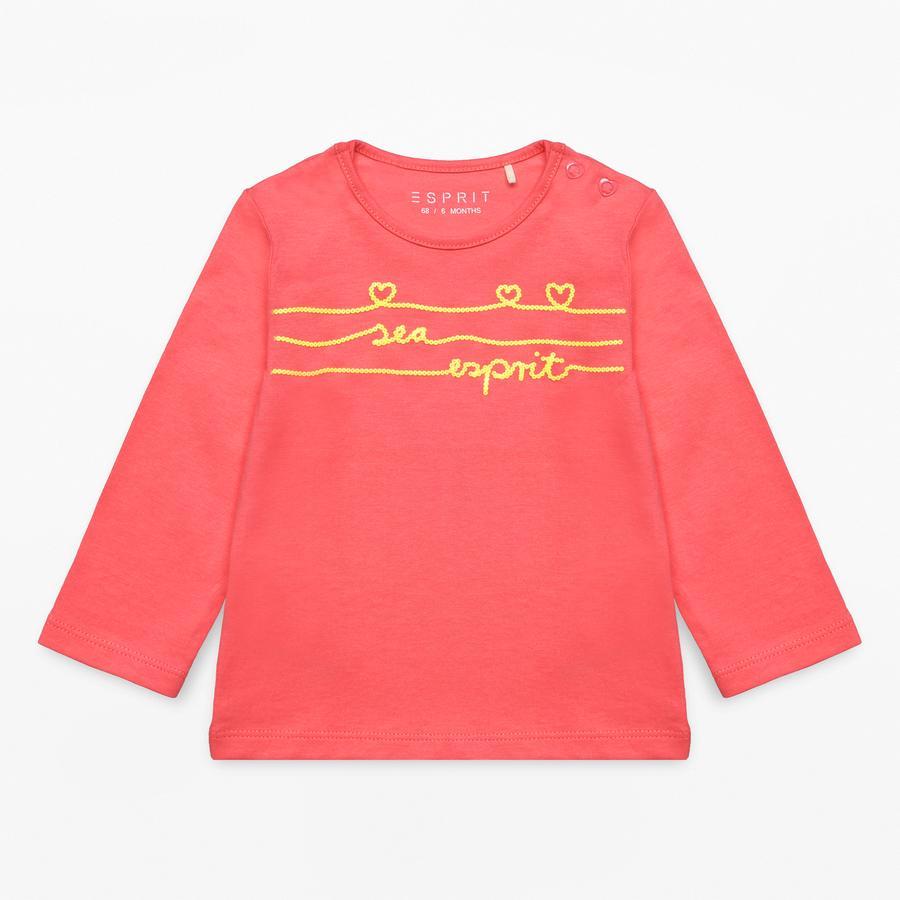 ESPRIT Girl Koralowa koszula z długim rękawem s.