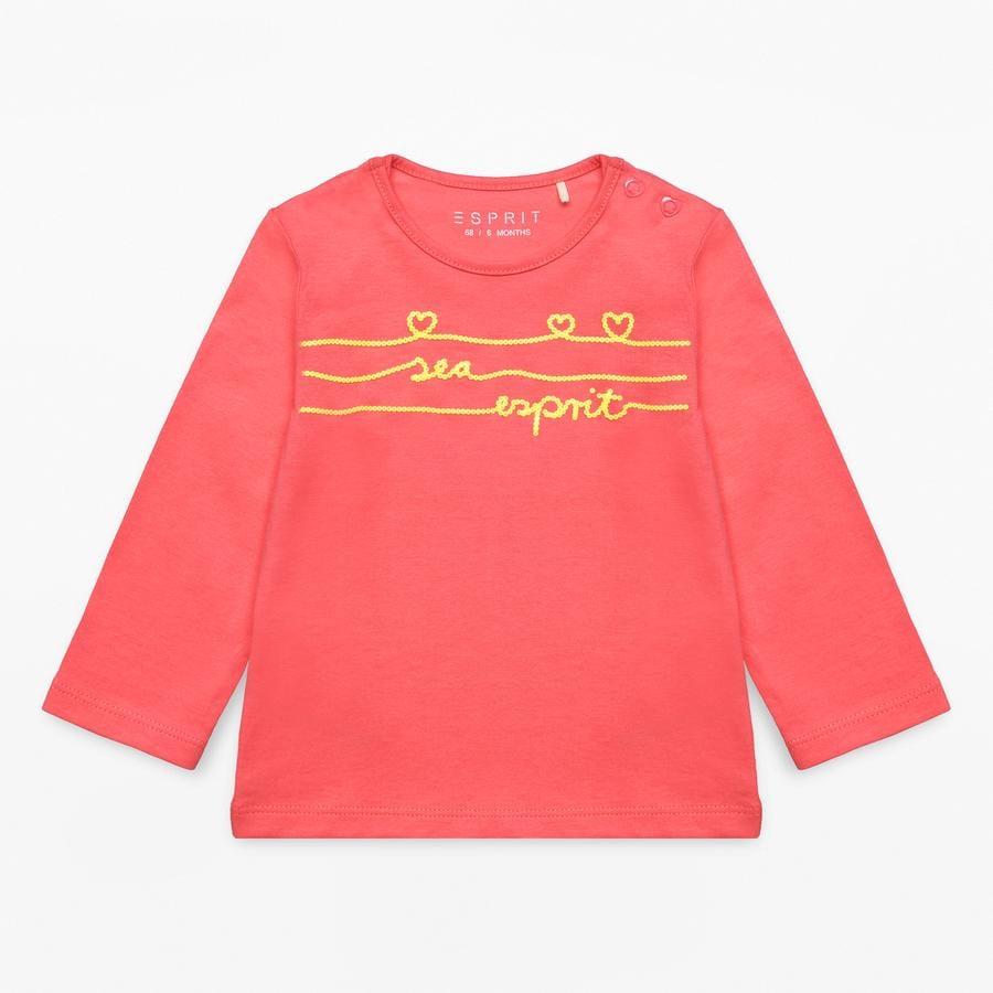 ESPRIT Girl s chemise manches longues corail