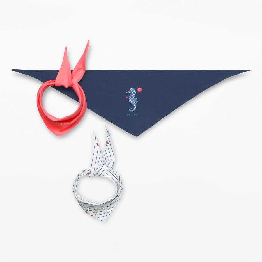 ESPRIT Girl s Bufanda triangular 3er Pack blanco