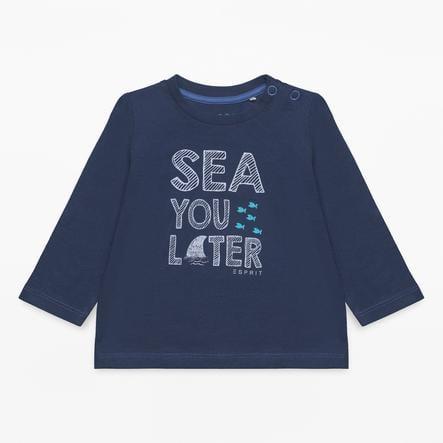 ESPRIT Poikien pitkähihainen paita merensininen