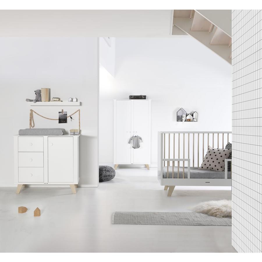 KIDSMILL Kinderzimmer Fynn weiß / natur 2-türig