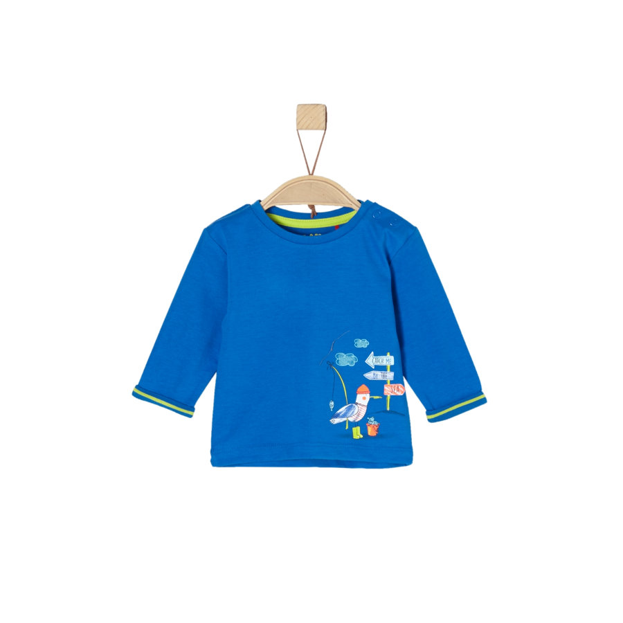 s.Oliver Boys Camicia manica lunga blu