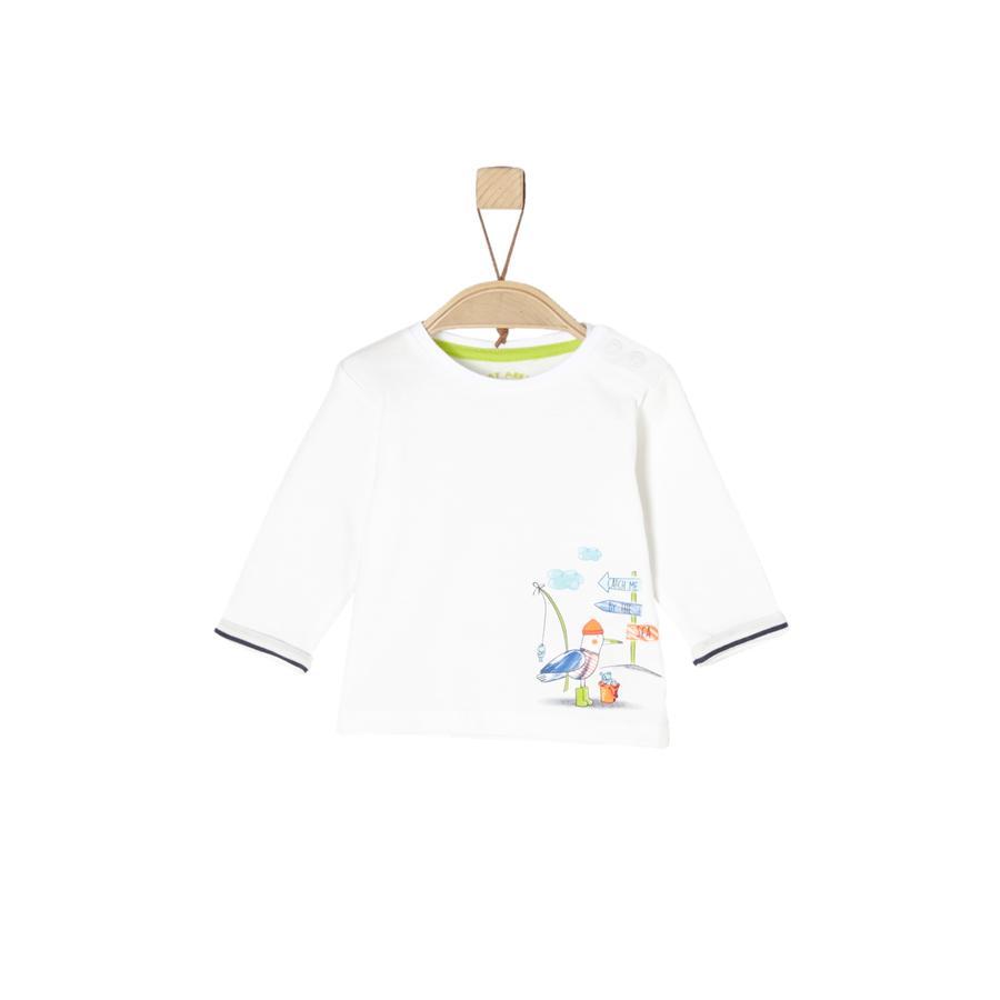 s.Oliver Boys Camisa manga larga ecru