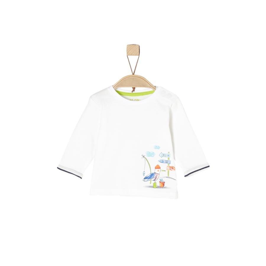 s.Oliver Boys Koszula z długim rękawem ecru