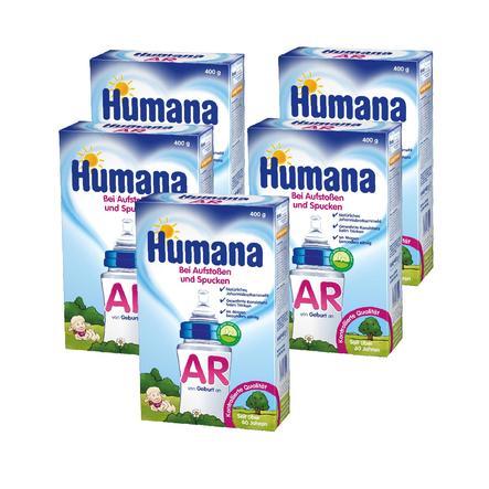 Humana Spezialnahrung AR bei Aufstoßen und Spucken 5 x 400 g ab der Geburt