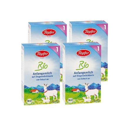 Töpfer Bio Anfangsmilch 1 auf Ziegenmilchbasis 4 x 400 g