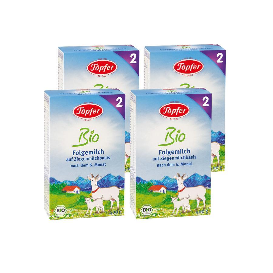 Töpfer Bio Folgemilch 2 auf Ziegenmilchbasis 4 x 400 g