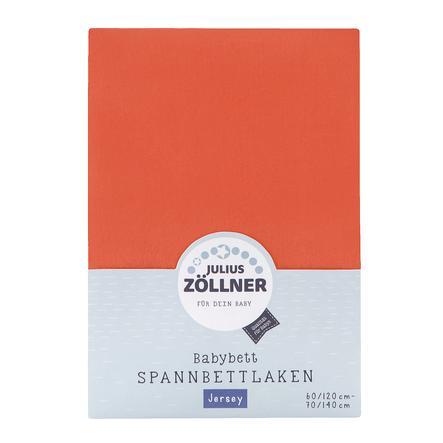 JULIUS ZÖLLNER Drap housse de lit enfant Jersey corail 70x140 cm