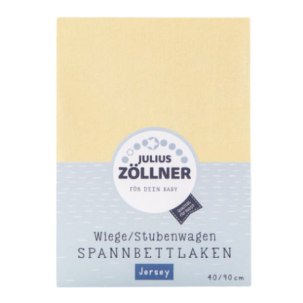 JULIUS ZÖLLNER Drap housse berceau Jersey vanille 90x40 cm