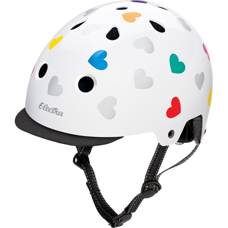 Electra Helm - Graphic Heartchya white, Gr. S