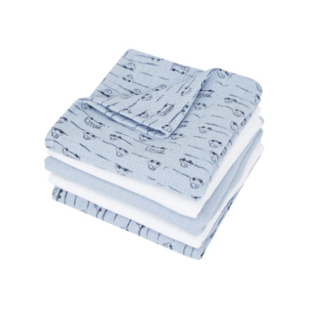 name it Mulltücher Napsies 5er-Pack cashmere blue