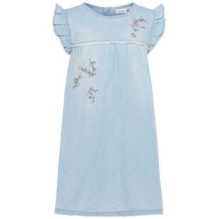 name it Girl s dress Nmfasoya jean bleu clair