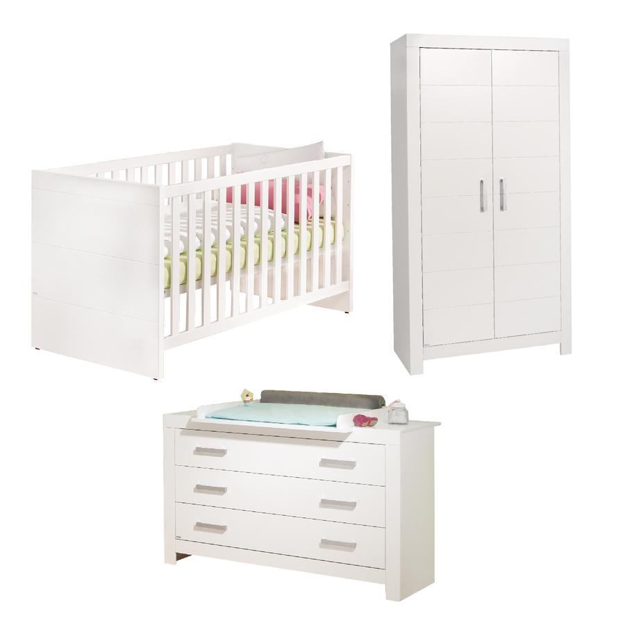 PAIDI Kinderzimmer Fiona 2-türig breit Griffe glänzend
