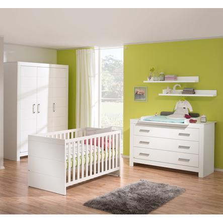 PAIDI Kinderzimmer Fiona 3-türig breit Griffe glänzend