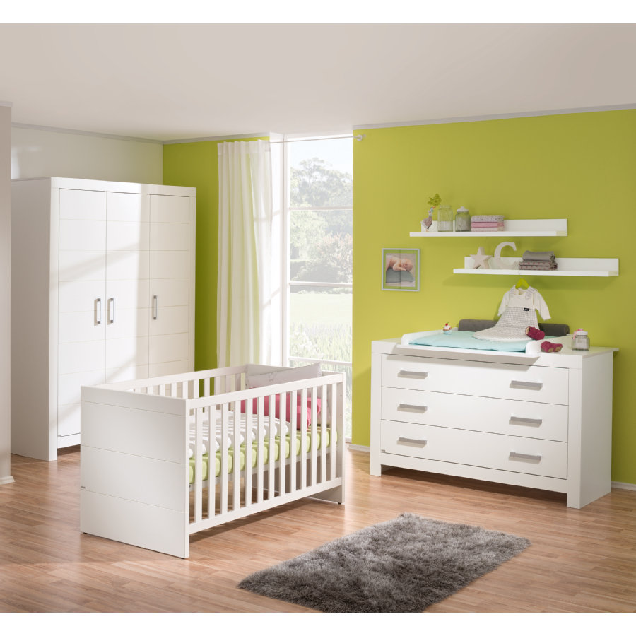 paidi kinderzimmer fiona 3 t rig breit griffe gl nzend. Black Bedroom Furniture Sets. Home Design Ideas