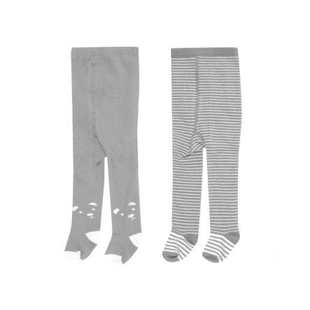 JACKY Collants enfant mélange gris clair lot de 2