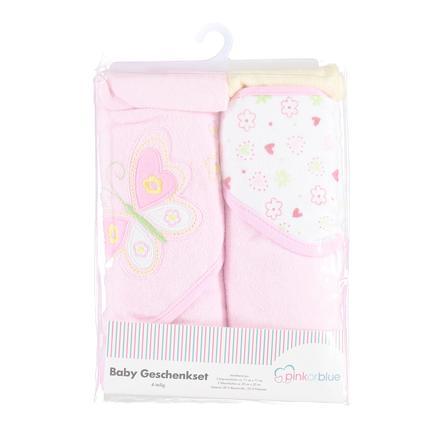 Pink or Blue Wassetje 4-delig roze