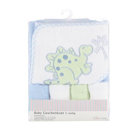 PINK OR BLUE Ensemble cape de bain gant toilette enfant bleu 5 pièces