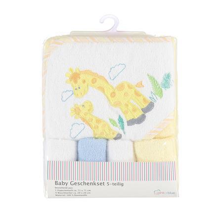 PINK OR BLUE Ensemble cape de bain gant toilette enfant jaune 5 pièces