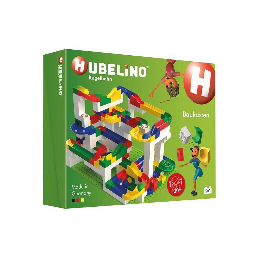 HUBELINO® Set Básico de Construcción circuito de bolas 200 Piezas