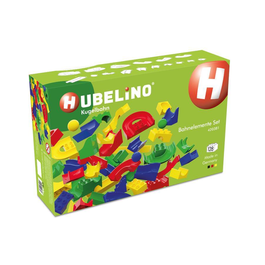 HUBELINO® Knikkerbaan - baan-elementen set 128-delig