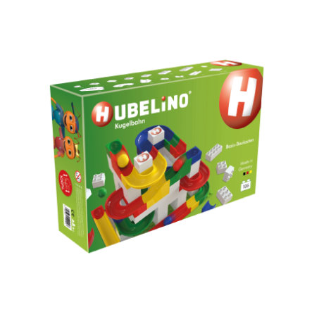 HUBELINO® Kugelbahn Basis-Baukasten 106-teilig