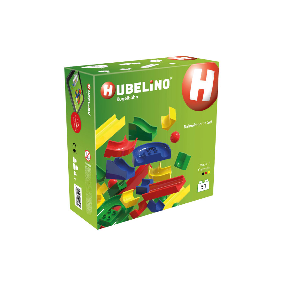 HUBELINO® Kugelbahn Bahnelemente Set 50 Teile