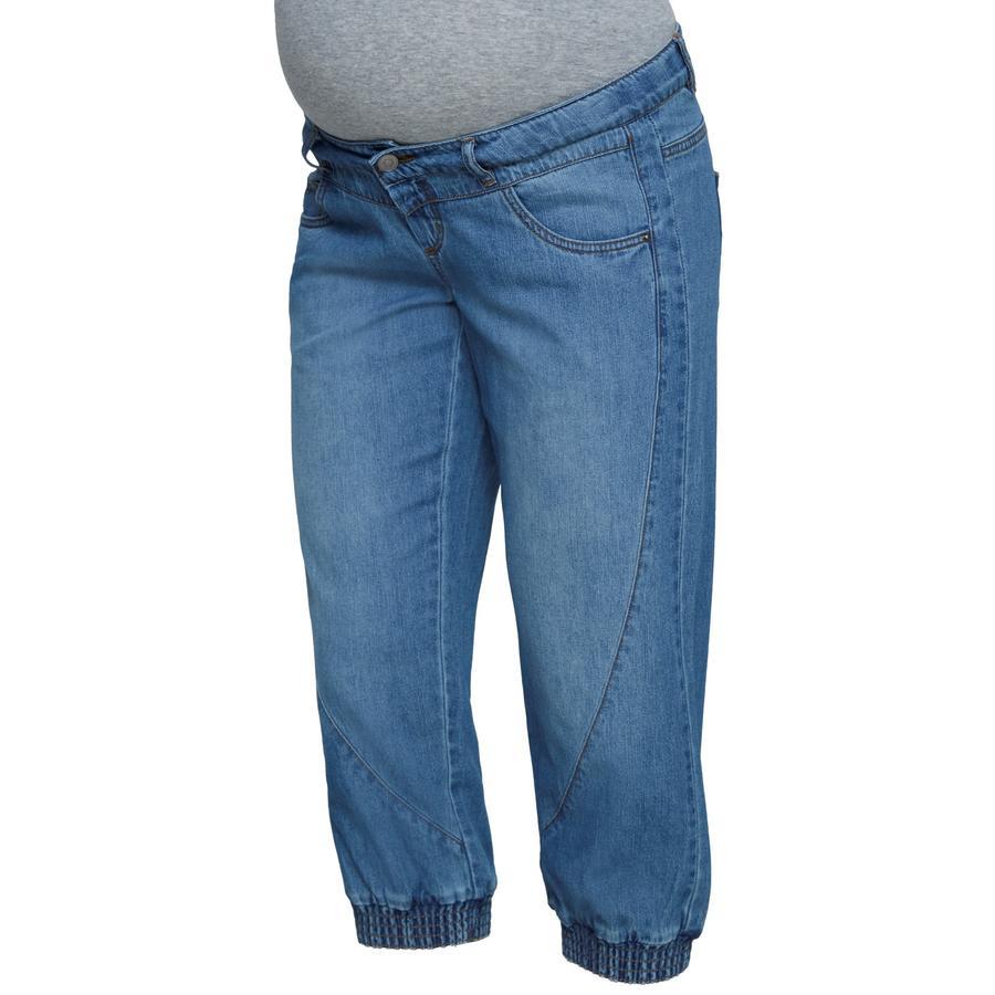 mama licious Pantalon de maternité MLANIA Bleu ciel Denim