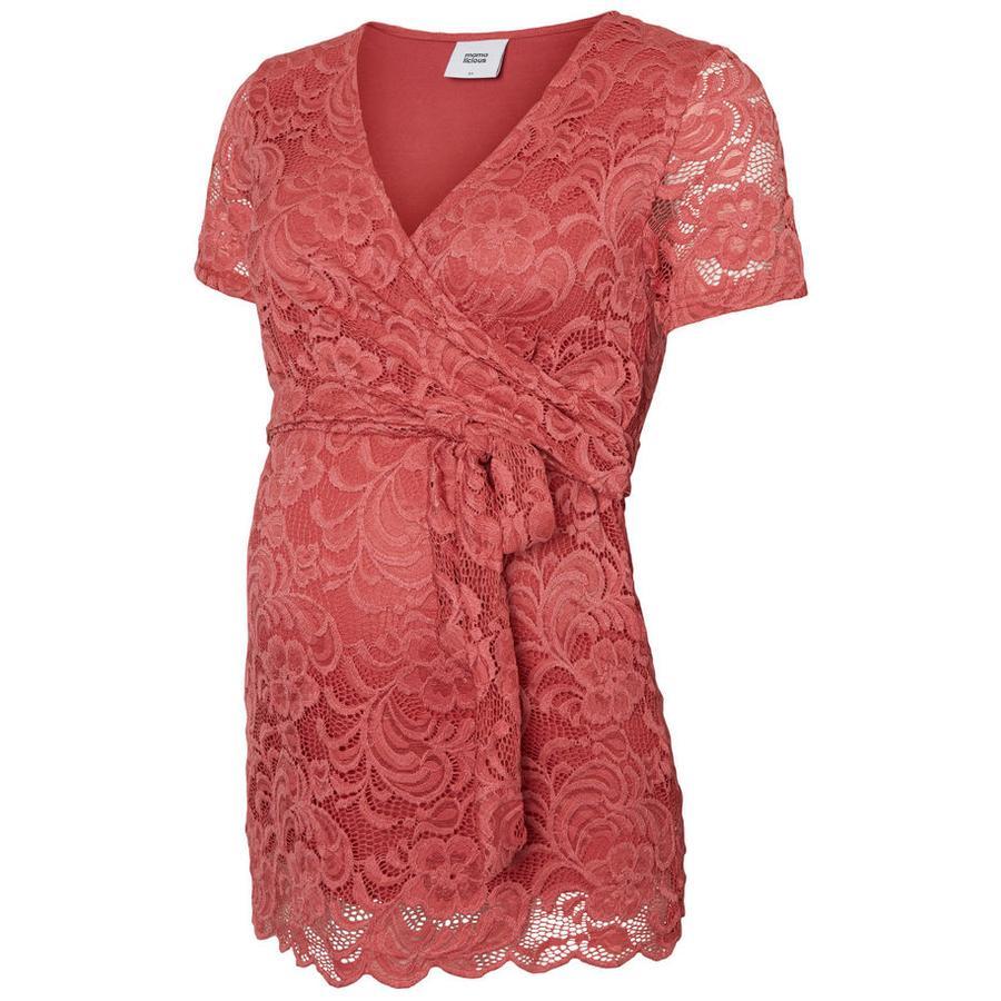 mama licious Koszulka Circumstance MLMIVANA Slate Rose