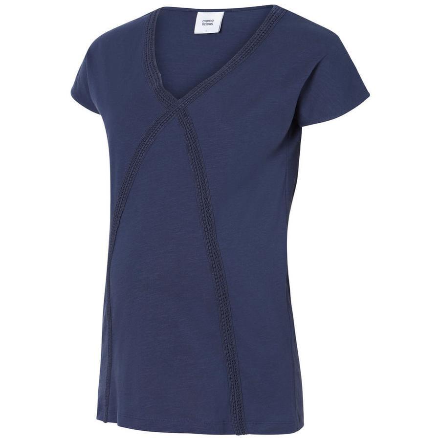 mama licious Omstandigheden shirt MLALANYA Zwart Iris