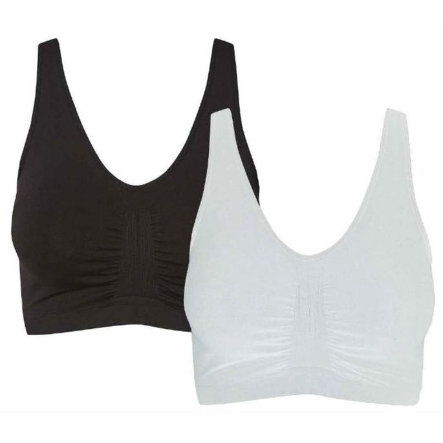 mama licious Still-BH MLDOUBLY 2er-Pack Black White